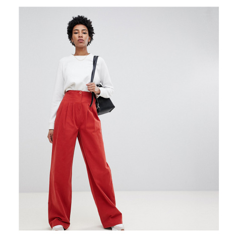 ASOS DESIGN Tall wide leg trouser with corset waist