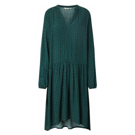 Basic apparel Sukienka 'Debbie' kremowy / ciemnozielony
