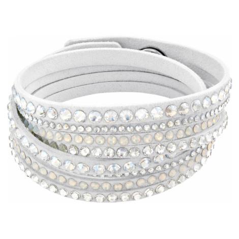 Slake Deluxe Bracelet, White Swarovski