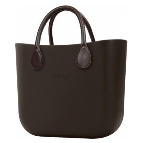 O bag torebka MINI Testa di Moro z krótkimi brązowymi uchwytami ze skajki
