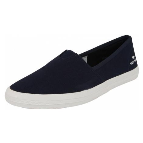 TOM TAILOR Pantofle biały / granatowy