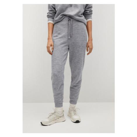 Mango Spodnie dresowe Maxime8 87084039 Szary Regular Fit