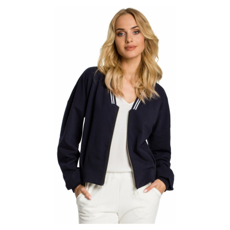 Made Of Emotion Woman's Jacket M347 Navy Blue