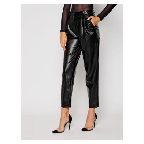 Luisa Spagnoli Spodnie skórzane Opium 537533 Czarny Regular Fit