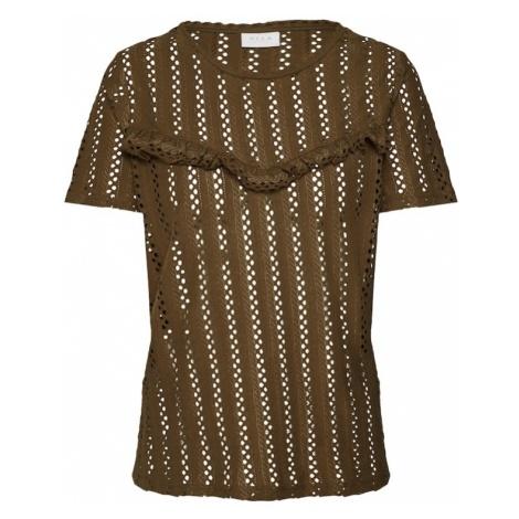 VILA Koszulka 'PILINE' oliwkowy