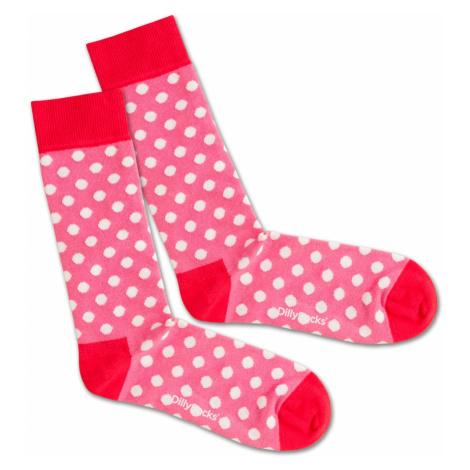 DillySocks Skarpety 'Pinky Dots' różowy / czerwony / biały