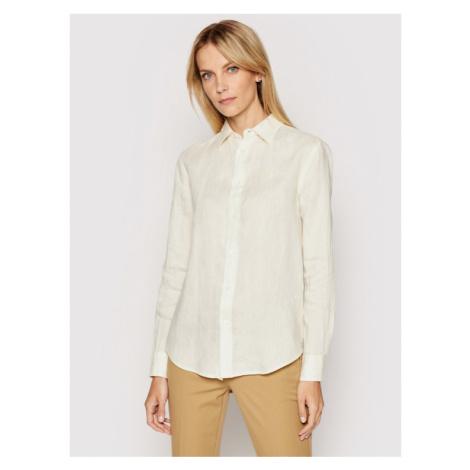 Polo Ralph Lauren Koszula Lsl 211827658008 Żółty Relaxed Fit