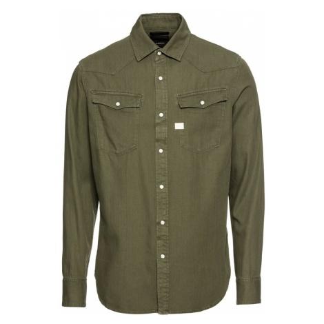 G-STAR RAW Koszula '3301 Shirt l/s' oliwkowy