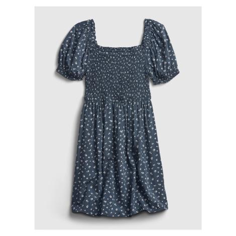 GAP niebieski dziewczęca sukienka Mini Floral