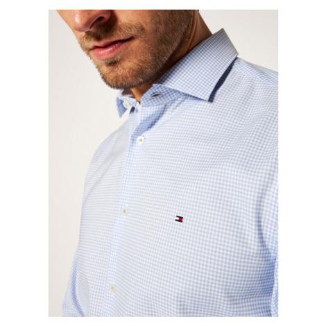 Tommy Hilfiger Tailored Koszula Oxford Check Classic TT0TT07818 Niebieski Slim Fit
