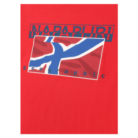 Napapijri T-Shirt K Sallyn NP0A4E52R M Czerwony Regular Fit
