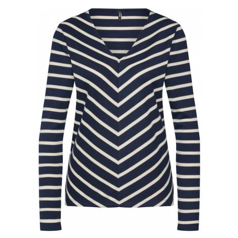 ONLY Koszulka 'onlEMMY L/S V-NECK TOP JRS' kremowy / niebieska noc