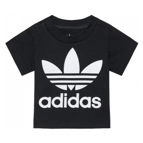 Adidas T-Shirt Trefoil DV2829 Czarny Regular Fit