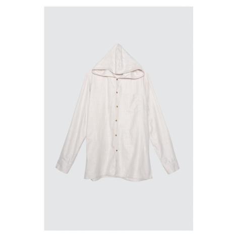 Modsolo Stone Męska koszula z kapturem regular fit fit Trendyol