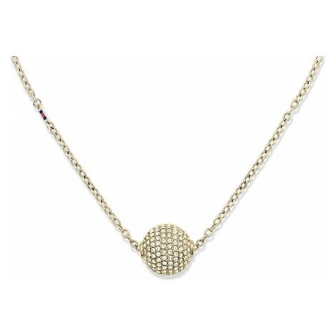 Tommy Hilfiger Złoty naszyjnik kulki z kryształami TH2700837