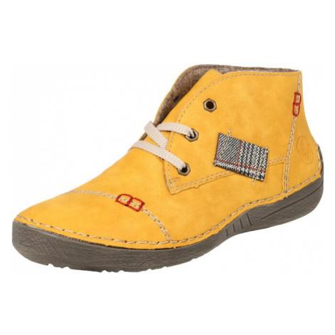 RIEKER Buty sznurowane żółty / czerwony / czarny