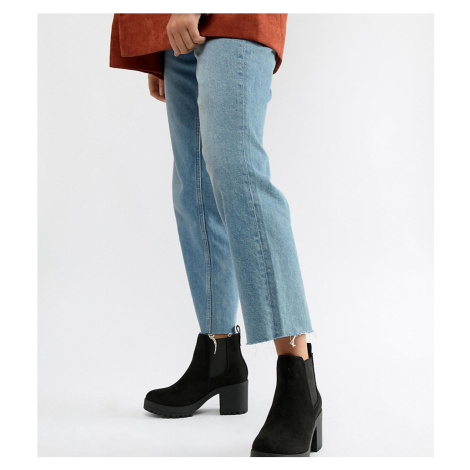 Truffle Collection Wide Fit Chunky Heeled Chelsea Boots