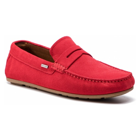 Mokasyny TOMMY HILFIGER - Classic Suede Penny Loafer FM0FM02109 Tango Red 611