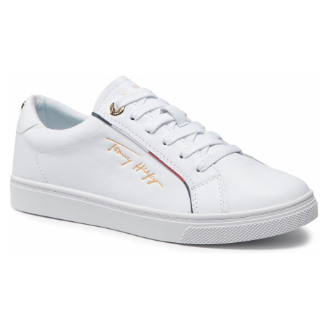Sneakersy TOMMY HILFIGER - Signature Sneaker FW0FW05910 White YBR