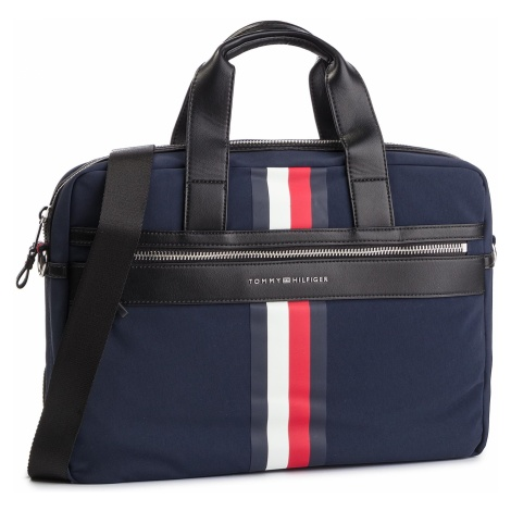Torba na laptopa TOMMY HILFIGER - Elevated Computer Bag Stripe AM0AM04661 413