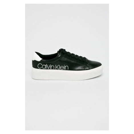 Details about Zolah White Canvas Calvin Klein Chunky Trainers