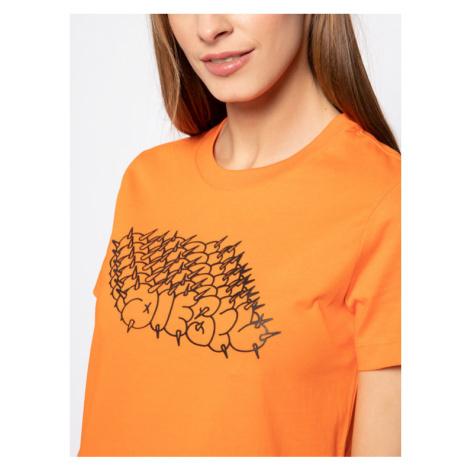 Diesel T-Shirt T-Sily-S6 00SEMF 0HERA Pomarańczowy Regular Fit