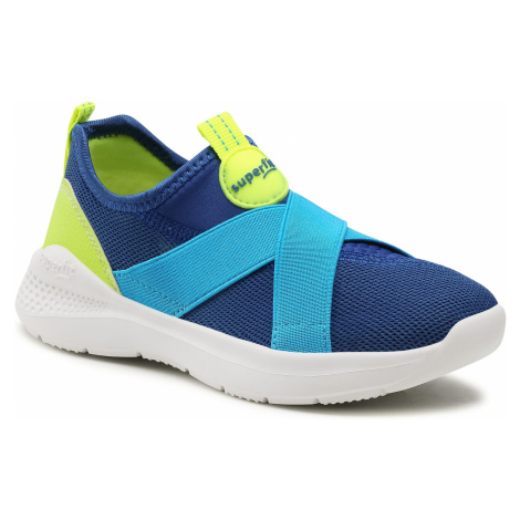 Sneakersy SUPERFIT - 1-000310-8000 S Blau/Gelb