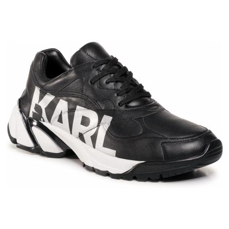 Sneakersy KARL LAGERFELD - KL51420 Black Lthr W/Silver