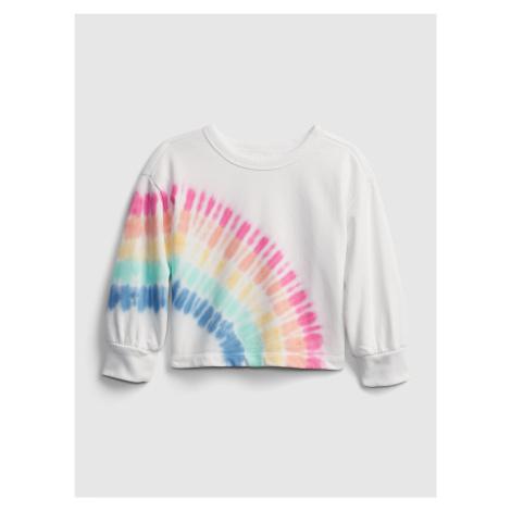 GAP biały dziewczęce bluza Rainbow