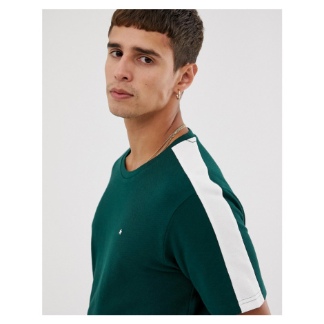 Celio t-shirt with taped sleeves in green
