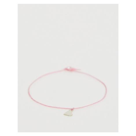 Dogeared 'keep it simple' pink heart bracelet