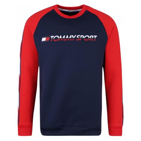 Tommy Sport Bluzka sportowa 'FLEECE TAPE CREW' atramentowy