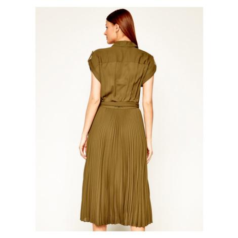 Lauren Ralph Lauren Sukienka koszulowa 200794828 Zielony Regular Fit