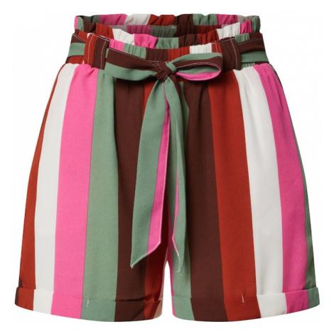 ONLY Spodnie 'ONLALMA LIFE' zielony / offwhite / czerwony