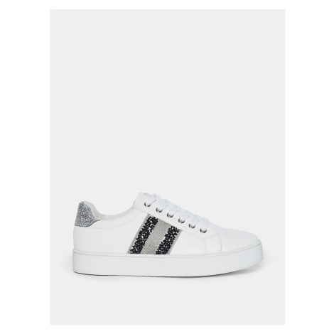 White sneakers with decorative dorothy perkins details