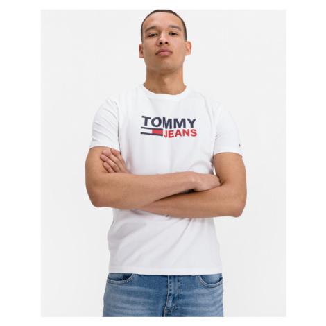 Tommy Jeans Stretch Koszulka Biały Tommy Hilfiger