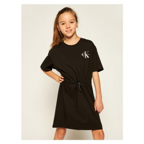 Calvin Klein Jeans Sukienka codzienna Small Monogram IG0IG00475 Czarny Regular Fit