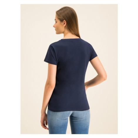 Trussardi Jeans T-Shirt 56T00208 Granatowy Regular Fit