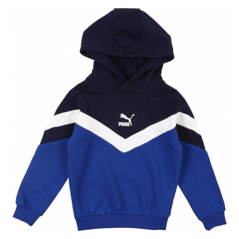 PUMA Bluzka sportowa biały / niebieski / ciemny niebieski