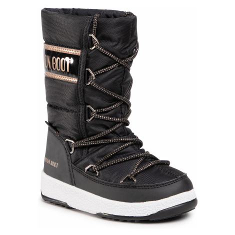 Śniegowce MOON BOOT - Jr G. Quilted Wp 34051400005 M Black/Copper