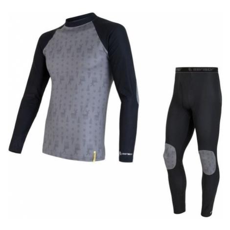 Sensor zestaw dziecięcy: koszulka i spodnie Flow czarny/szary