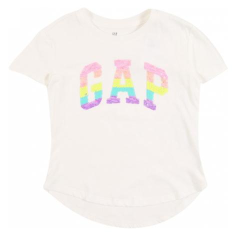 GAP Koszulka biały / ciemnofioletowy / żółty / aqua / różowy