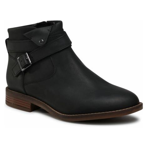 Botki CLARKS - Camzin Dime 261530354 Black Leather