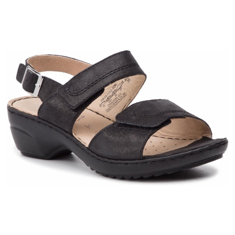 Sandały CAPRICE - 9-28351-22 Black Sue.Met. 006