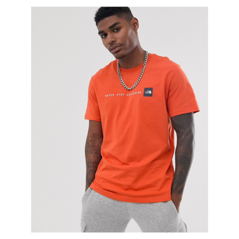 The North Face NSE t-shirt in papaya orange