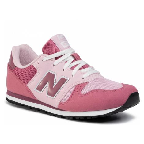 Sneakersy NEW BALANCE - YC373KP Różowy