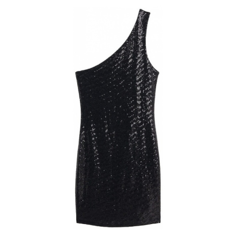 MANGO Sukienka koktajlowa 'Asim' czarny