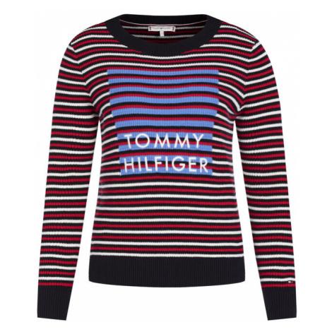 Tommy Hilfiger Sweter Vivika Graphic C-Nk WW0WW26536 Kolorowy Regular Fit
