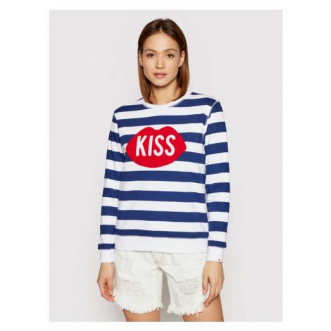 PLNY LALA Bluza Kiss PL-BL-RG-00051 Granatowy Regular Fit