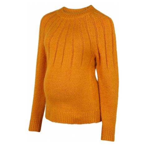 MAMALICIOUS Sweter żółty Mama Licious